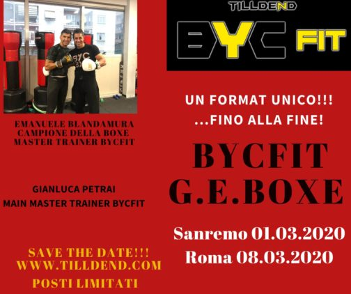 Tilldend BYC FIT GE BOXE boxing fitness sport outdoor