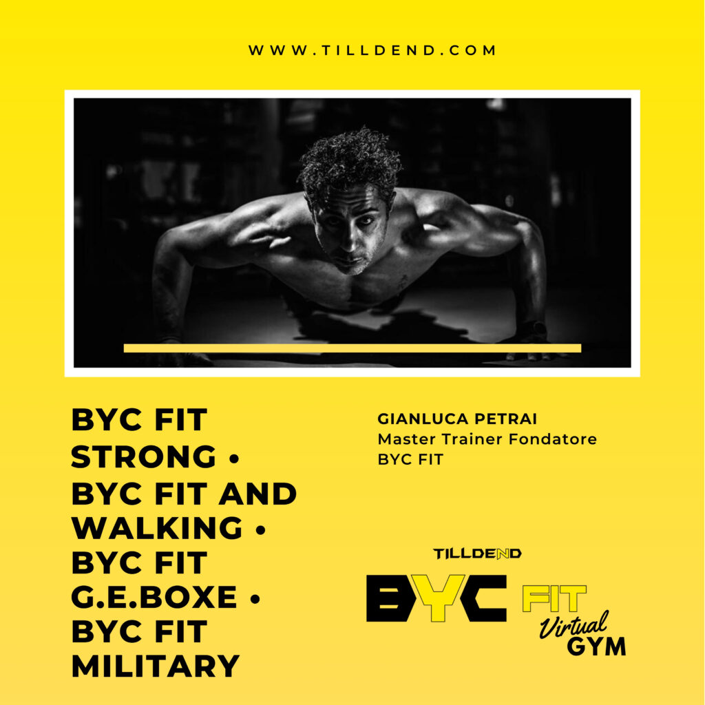 Gianluca Petrai Master Trainer Fondatore Tilldend BYC FIT BYC FIT Strong BYC FIT and Walking BYC FIT G.E.BOXE BYC FIT Military allenamento militare